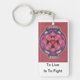 MidPyre Pink logo Key Chains
