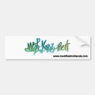 Mids Know Best (Graffiti Style) Bumper Sticker