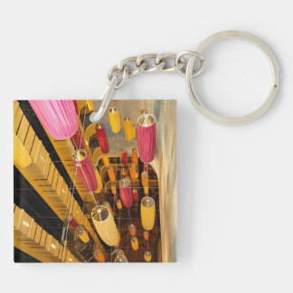 Midship Elevator Balcony view Double-Sided Square Acrylic Key Ring