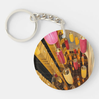 Midship Elevator Balcony view Double-Sided Round Acrylic Keychain
