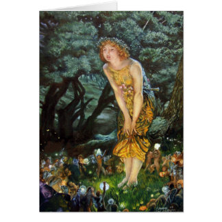 Midsummer Eve, Edward Robert Hughes Card