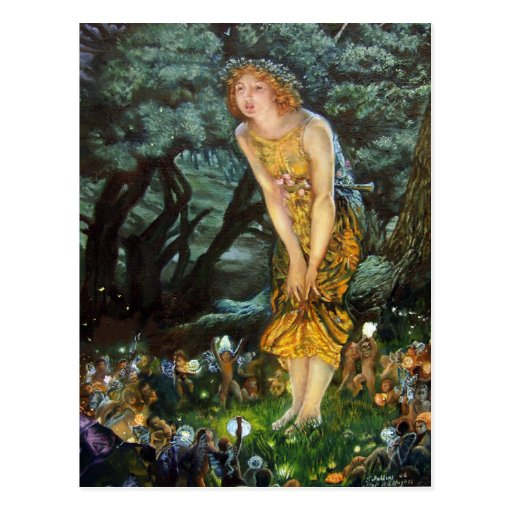 Midsummer Eve, Edward Robert Hughes Post Cards