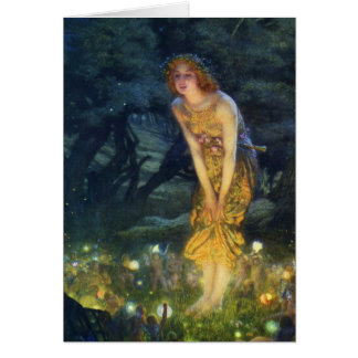 Midsummer Eve Fairy Dance Greeting Card