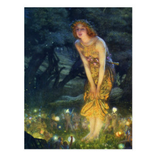 Midsummer Eve Fairy Dance Postcard
