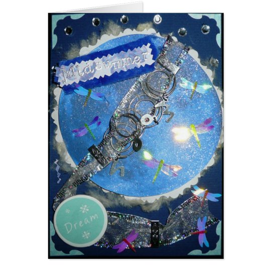 Midsummer Fairy Moon Greeting Card