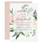 Midsummer Floral Baby Shower Invitation