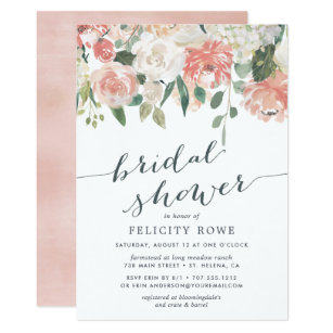 Pastel 5x7 Bridal Shower Invitations Zazzle Co Uk