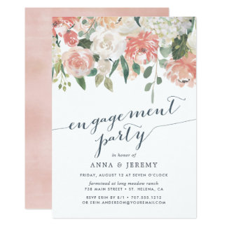 Midsummer Floral | Engagement Party Invitation
