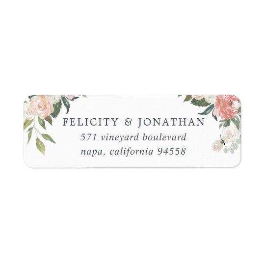 Midsummer Floral Return Address Return Address Label