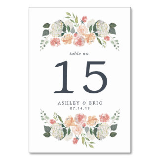 Midsummer Floral Table Number Card Table Card