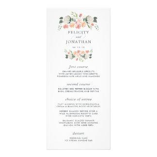 Midsummer Floral Wedding Menu Card