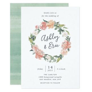 Midsummer | Floral Wreath Wedding Invitation