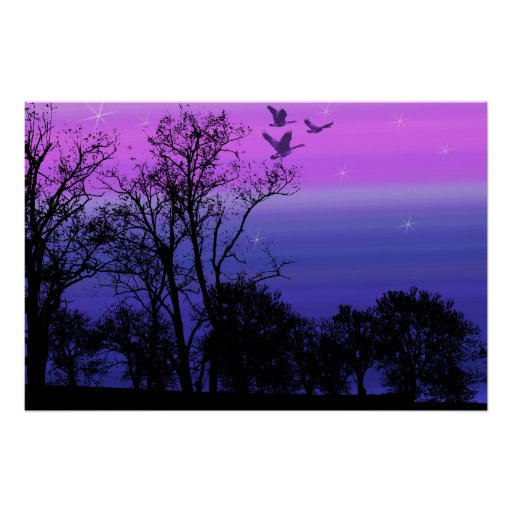 Midsummer Night Gothic Fantasy Landscape Print