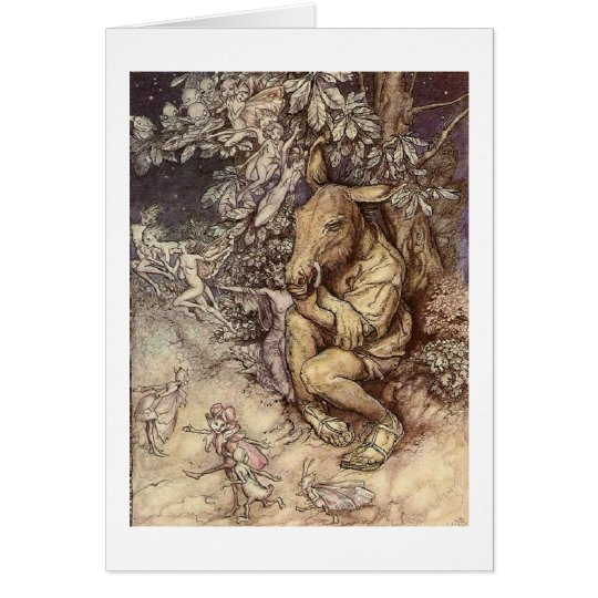 Midsummer Night in the Forest (Blank Inside) Card