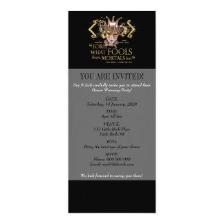 Midsummer Night's Dream Quote (Gold Version) 10 Cm X 24 Cm Invitation Card