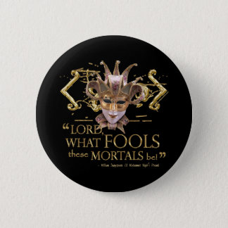 Midsummer Night's Dream Quote (Gold Version) 6 Cm Round Badge
