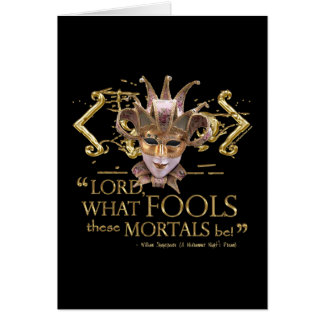 Midsummer Night's Dream Quote (Gold Version) Card