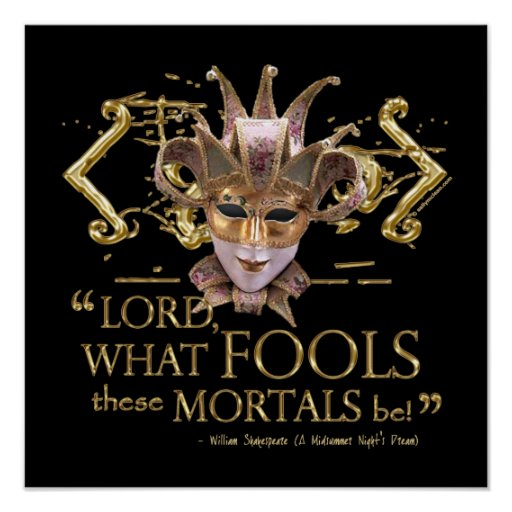 Midsummer Night's Dream Quote (Gold Version) Poster