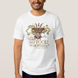 Midsummer Night's Dream Quote (Gold Version) T-shirts