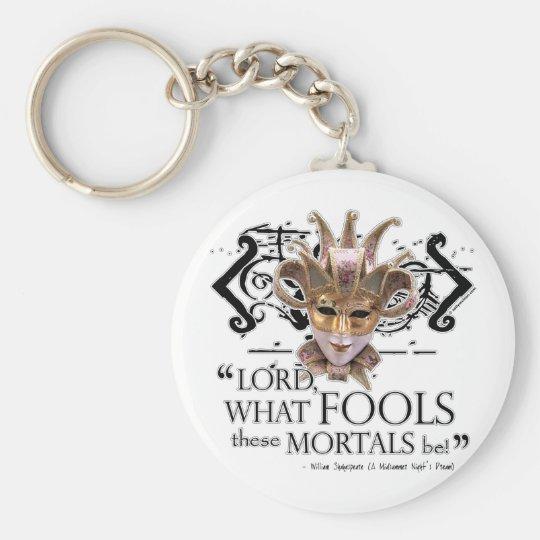 Midsummer Night's Dream Quote Key Ring