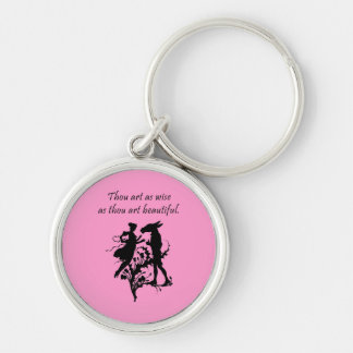 Midsummer Night's Dream Silver-Colored Round Key Ring
