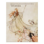 Midsummer Night's Dream Titania Arthur Rackham Poster