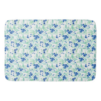 Midsummer Rustic Blueberry Berry Summer Pattern 1 Bath Mat