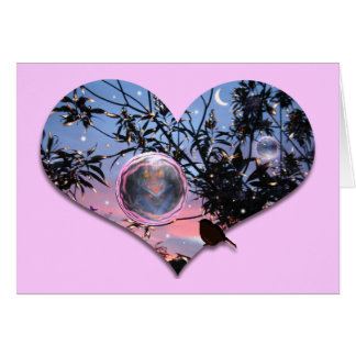Midsummer s Eve Fairy Bubbles Greeting Card