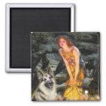 Midsummers Eve - German Shepherd 9 Fridge Magnets