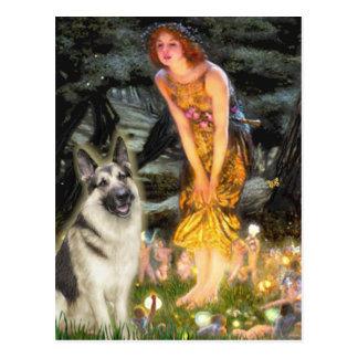 Midsummers Eve - German Shepherd 9 Postcards