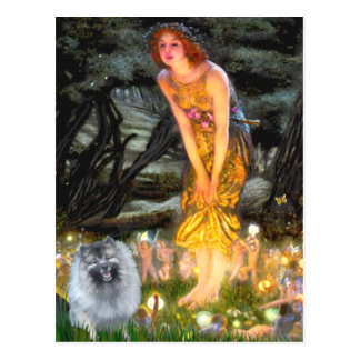 Midsummers Eve - Keeshond (F) Post Cards