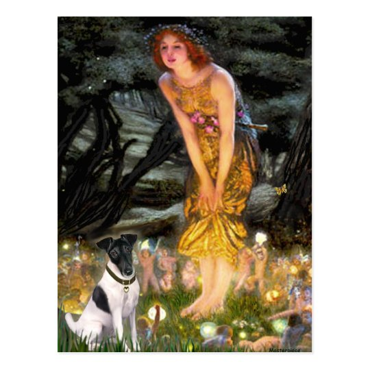 Midsummers Eve - Smooth Fox Terrier Postcard