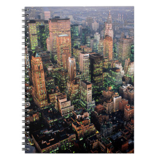 Midtown at night in New York City - USA. Welcome t Notebooks