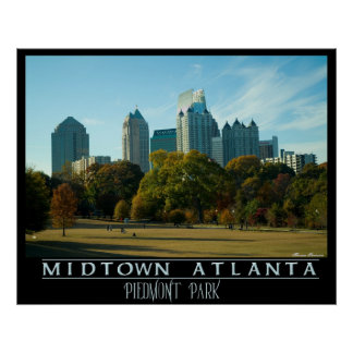 Midtown Atlanta - Piedmont Park Poster