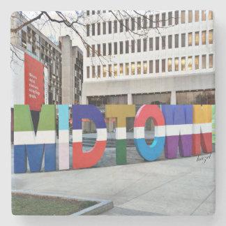 Midtown Atlanta Sign , Coaster Stone Coaster