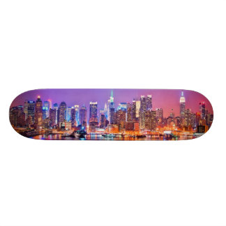 Midtown Manhattan at night with Empire Stae 19.7 Cm Skateboard Deck