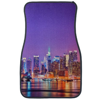 Midtown Manhattan at night with Empire Stae Car Mat