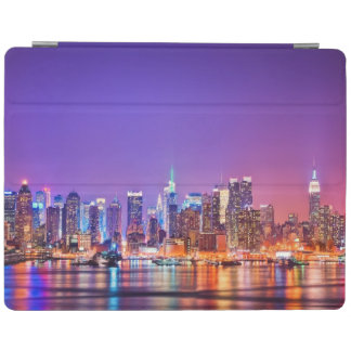 Midtown Manhattan at night with Empire Stae iPad Cover