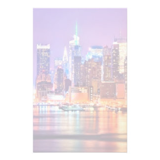 Midtown Manhattan at night with Empire Stae Stationery