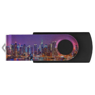 Midtown Manhattan at night with Empire Stae USB Flash Drive