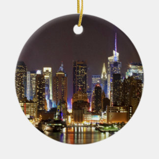 Midtown Manhattan seen from Weehawken New Jersey Christmas Ornament