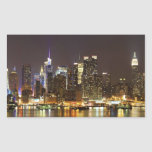 Midtown Manhattan seen from Weehawken New Jersey Rectangle Sticker
