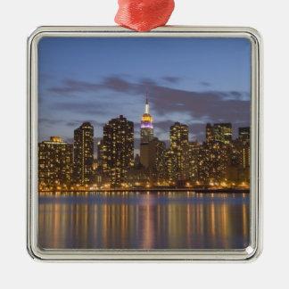 Midtown Manhattan Silver-Colored Square Decoration