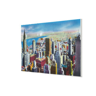 Midtown Skyline View towards East River Canvas Print