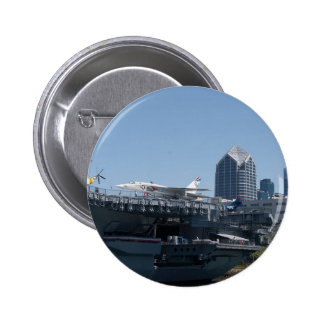 Midway Aircraft Carrier Docked In San Diego Pinback Button