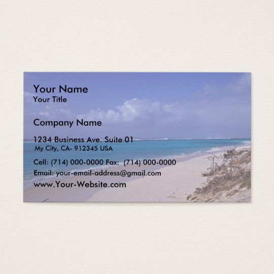 Midway Atoll beach Business Card