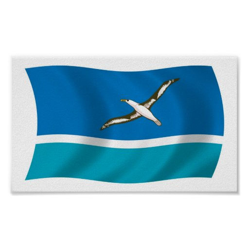 Midway Island Flag Poster Print