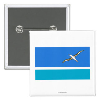 Midway Islands Flag 15 Cm Square Badge