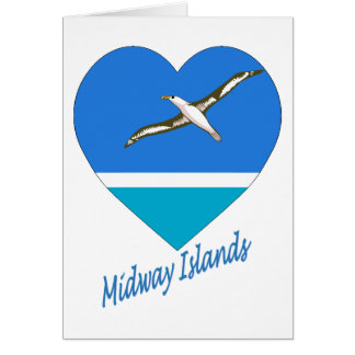Midway Islands Flag Heart Greeting Card