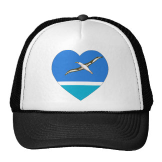 Midway Islands Flag Heart Trucker Hats